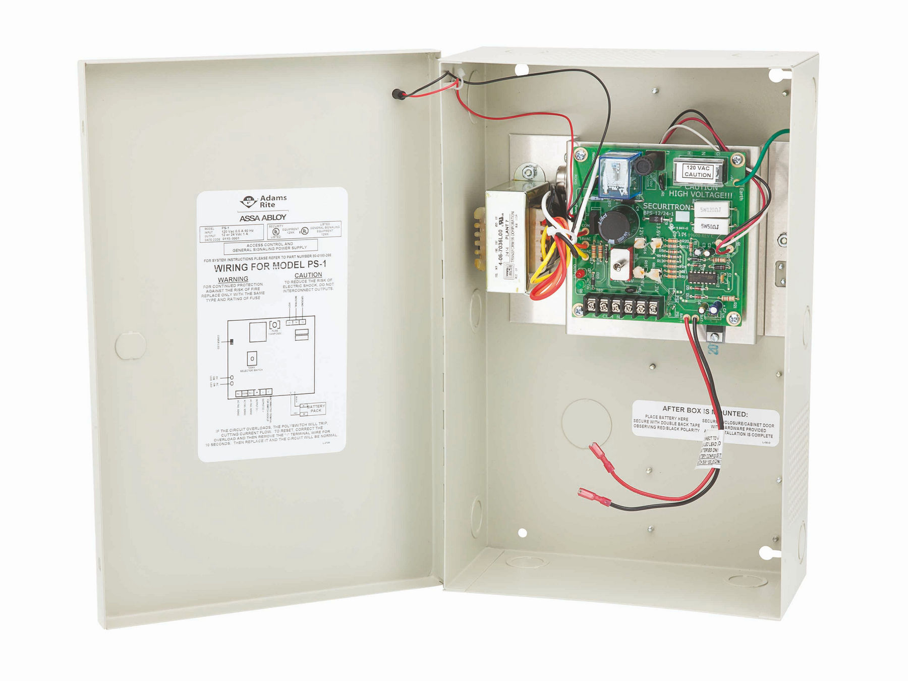 24V DC 10-Ampere Securitron PS-24-10 Power Supply