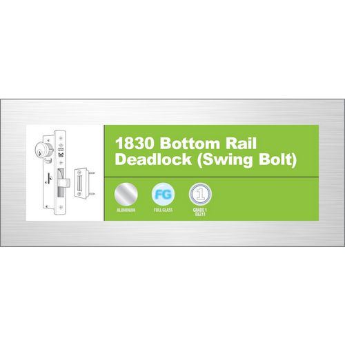 Adams Rite 1830-02-313 Bottom Rail Deadlock, Dark Bronze