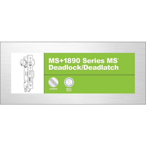 Adams Rite MS+1890-36-628 MS+ Deadlock/Latch, Clear Aluminum Anodized