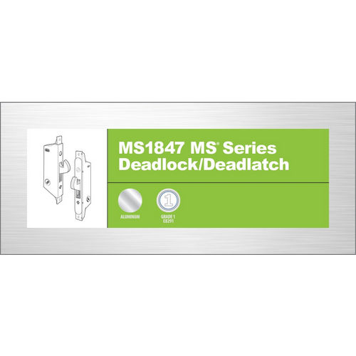 Adams Rite MS1847-04-630 Deadlock 41-0197, Satin Stainless Steel