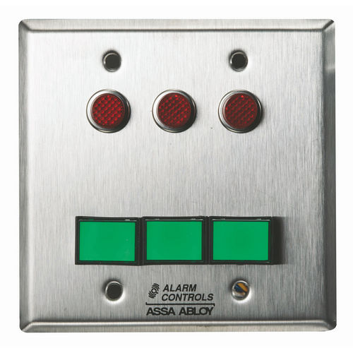 Alarm Controls SLP-3M Monitoring/Control Station Double Gang Stainless Steel 3Ea Dsw-3 III Gn 12V 3Ea 1/2
