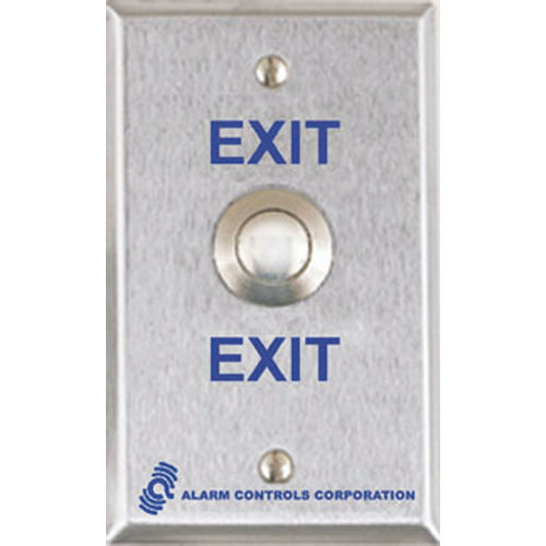 Alarm Controls TS-23 Push Button Weather-Proof Vandal Resistant, Single Gang 302Ss DPDT Momentary