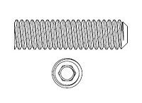Markar M26-0031-01 Adjust-A-Screw With 10-32 Internal Thread and Hex Head Adjustment 1-3/8