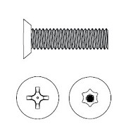 Markar MS10075BL Flat Head Machine Screw 10-32 x 3/4