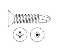 Markar TKS8075Z Flat Head Self-Drilling Screw #8 x 3/4