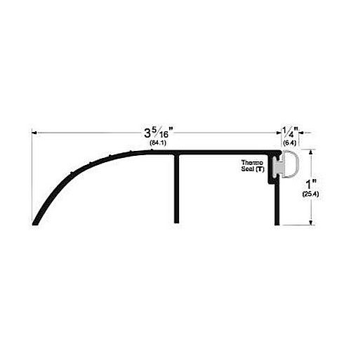 Pemko 2051GV Pemko Bumper Threshold for Outswing Doors, Gold