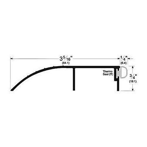 Pemko 205GV Pemko Bumper Threshold for Outswing Doors., Gold