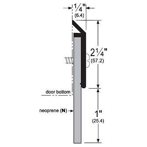 Pemko 3151BN36 Specialty Door Bottoms 36