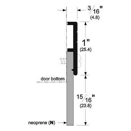 Pemko 321CN Door Bottom Sweeps, Clear Anodized Aluminum