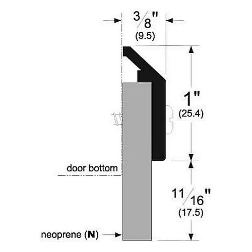 Pemko 368DN Door Bottom Sweeps, Dark Bronze