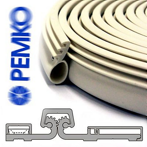 Pemko 293100CV Brush Gasketing, Clear