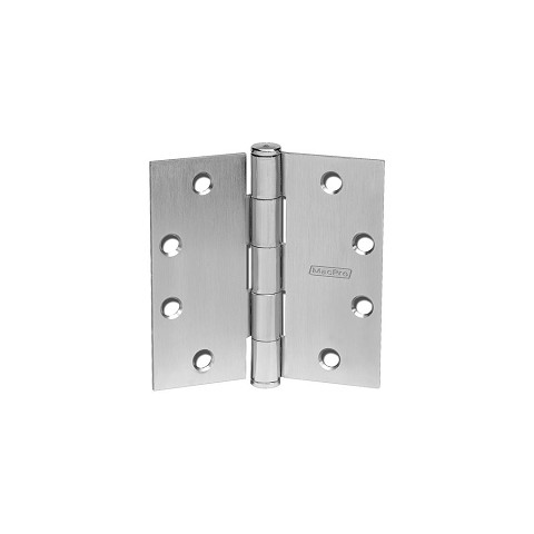 "McKinney MPB79 MacPro Standard Weight Five Knuckle Bearing 4-1/2"" x 4-1/2"", Satin Nickel Plated"